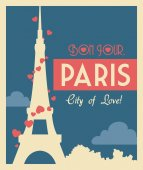 Paris design, vector illustration. — Stockvector