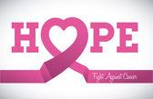 Breast cancer design, vector illustration. — Stock Vector