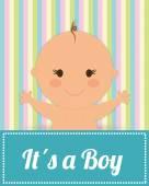 Baby design, vector illustration. — Stock Vector