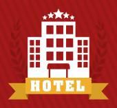 Hôtel design, illustration vectorielle. — Vecteur