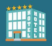 Hotel design, vector illustration. — Stockvector