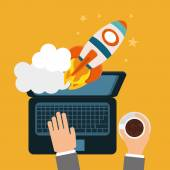 Start up business design, vector illustration. — Stock Vector