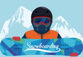 Snowboarding design, vector illustration. — Vettoriale Stock