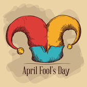 April fools day design, vector illustration. — Vetor de Stock