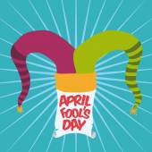 April fools day design, vector illustration. — Stock Vector