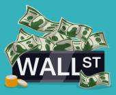 Wall street design, vector illustration. — Stock Vector