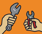 Tools design, vector illustration. — Stockvektor