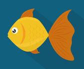 Desenho de peixe. — Vetor de Stock