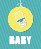 Projekt prysznic Baby. — Wektor stockowy