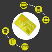 Projeto de pagamento digital. — Vetor de Stock