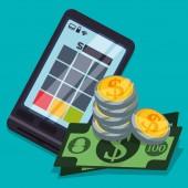 Digital payment design. — Stock Vector