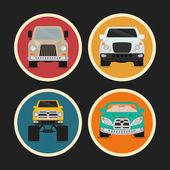 Diseño de los vehículos. — Vector de stock