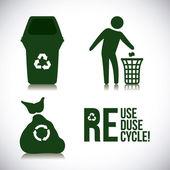 Diseño de reciclaje. — Vector de stock