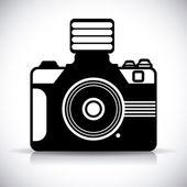 Aparat fotograficzny mianować. — Wektor stockowy