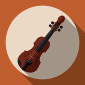 Projekt skrzypce. — Wektor stockowy