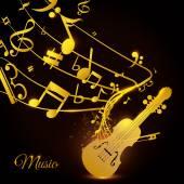 Violin design. — Stock Vector