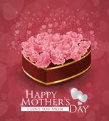 Diseño de tarjeta de día de las madres. — Vector de stock