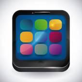 Mobilní aplikace design. — Stock vektor