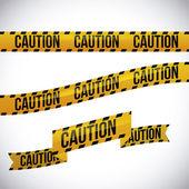 Yellow tape design. — Stock Vector