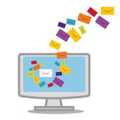Email marketing design. — Vettoriale Stock