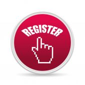 Register now design. — Stock Vector