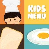 Kids menu design. — Stock Vector