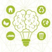 Projeto ecologia, ilustração vetorial. — Vetor de Stock