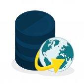 Projekt bazy danych. — Wektor stockowy