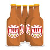Bira tasarım. — Stok Vektör