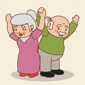 Grandparents design. — Stock Vector