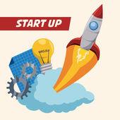 Raket ontwerp — Stockvector