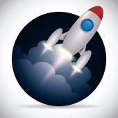 Rocket design — Stock Vector
