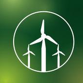 Piensa verde diseño — Vector de stock