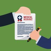 Medical insurance design. — Stockvector