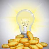 Design lampadina. — Vettoriale Stock