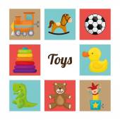 Baby toys design. — Stock Vector