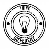 Pense que la conception différente — Vecteur