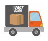 Delivery Icon, Vector illustration — Stock Vector