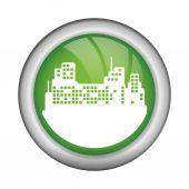 Acho que o design verde — Vetor de Stock