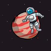 Astronaut-Gestaltung — Stockvektor