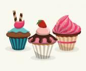 Sweet food design — Stock Vector