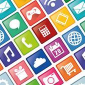 Smartphone applications design. — Stock Vector