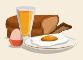 Breakfast design. — Stock Vector
