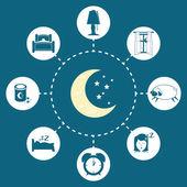 Sweet dreams design. — Stock Vector