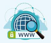 Internet design. — Stock Vector