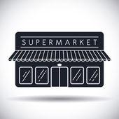 Дизайн магазина супермаркета. — Cтоковый вектор