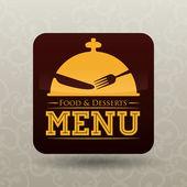 Restaurant digital design. — Stock Vector