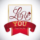 Σχέδιο καρτών αγάπη. — Διανυσματικό Αρχείο