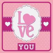 Love card design. — Stock Vector