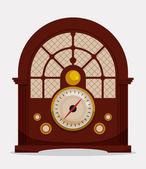 Radio vintage  design. — Stock Vector